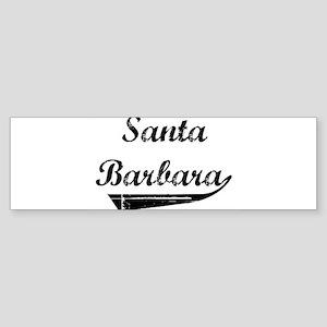 Santa Barbara (vintage] Bumper Sticker